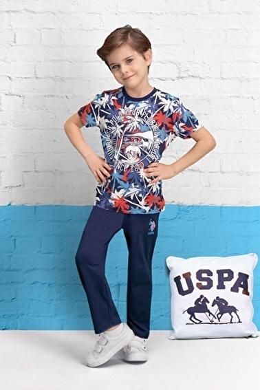 U.S. Polo Assn. Lisanslı Erkek Çocuk Pijama Takımı Lacivert